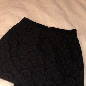 Madewell Skirts - Madewell lace black mini skirt, size 2!